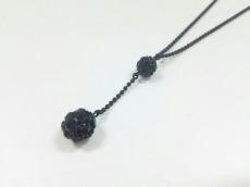 AGATHA(アガタ) ネックレス美品  金属素材×ラインストーン 黒