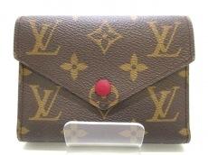 ルイヴィトン 3つ折り財布 モノグラム M41938 フューシャ