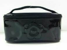 マリークワント バニティバッグ美品  黒 PVC(塩化ビニール)