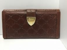 GUCCI(グッチ) 長財布 シマライン 181648 ブラウン レザー