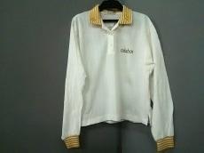 アダバット 長袖ポロシャツ サイズM レディース美品  白×オレンジ