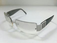 シャネル サングラス 4095-B ライトグレー×黒×シルバー ココマーク