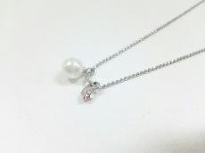 クレージュ ネックレス美品  金属素材 シルバー×ピンク×白