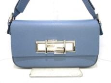 フェンディ ショルダーバッグ トレバケット 8BR720 ブルー レザー