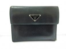 PRADA(プラダ) 3つ折り財布 - M170A 黒 レザー