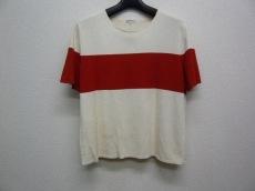 エルメス 半袖セーター サイズLA レディース アイボリー×レッド