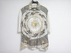 エルメス 半袖ポロシャツ サイズL レディース アイボリー×マルチ