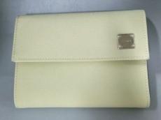 FENDI(フェンディ) 3つ折り財布美品  - アイボリー ナイロン×レザー