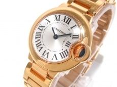 カルティエ 腕時計 バロンブルーSM W69002Z2 レディース K18PG無垢
