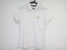 グッチ 半袖ポロシャツ サイズL レディース アイボリー×ゴールド