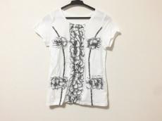 ノコオーノ 半袖Tシャツ サイズ38 M レディース美品  白×黒