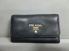 PRADA(プラダ) キーケース - 1PG222 黒 6連フック レザー