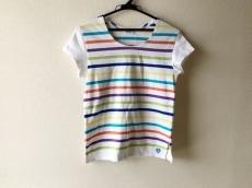 オーシバル 半袖Tシャツ サイズ2 M レディース アイボリー×マルチ