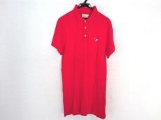 メゾンキツネ 半袖ポロシャツ サイズS メンズ美品  レッド