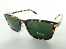 プラダ サングラス SPR02T グレー×ダークブラウン×アイボリー