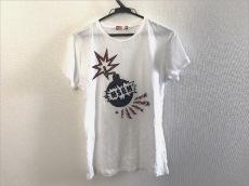 MSGM(エムエスジィエム) 半袖Tシャツ レディース 白×マルチ