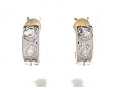 シャネル イヤリング美品  スリーシンボル K18WG×ダイヤモンド