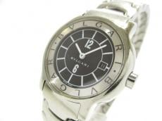 ブルガリ 腕時計 ソロテンポ ST29S レディース 黒×シルバー
