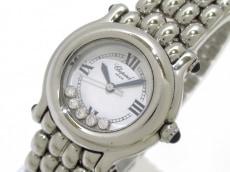 ショパール 腕時計美品  ハッピースポーツ 27/8250-23 レディース 白