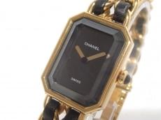 シャネル 腕時計 プルミエール H0001 レディース サイズ:L 黒