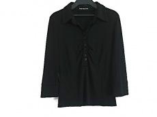 フォクシーニューヨーク 七分袖ポロシャツ レディース美品  黒