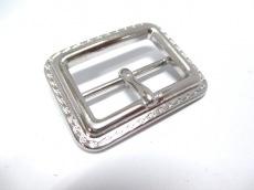 バーバリー スカーフリング 金属素材 シルバー バックルモチーフ