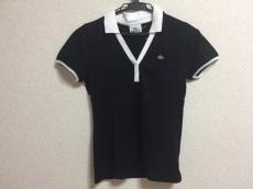 ラコステ 半袖ポロシャツ サイズ38 M レディース美品  黒×白