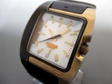 DIESEL(ディーゼル) 腕時計 DZ-4081 メンズ 革ベルト シルバー