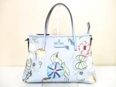 グッチ ハンドバッグ フローラ 353440 ライトブルー×マルチ 花柄