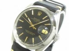 ロレックス 腕時計 オイスターパーペチュアルデイト 1500 メンズ 黒