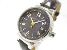 ヴィトン 腕時計 タンブール Q1211 レディース ダークブラウン