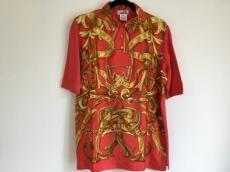 エルメス 半袖ポロシャツ サイズXS レディース レッド×イエロー
