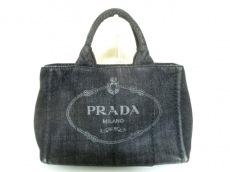 PRADA(プラダ) トートバッグ CANAPA 黒 ミニサイズ デニム