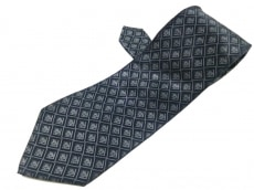VERSACE(ヴェルサーチ) ネクタイ メンズ美品  黒×シルバー