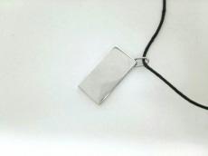 エルメス チョーカー シンボル 金属素材×レザー シルバー×黒