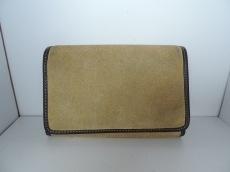 LOEWE(ロエベ) 2つ折り財布 - ベージュ×ダークブラウン スエード