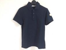 MONCLER(モンクレール) 半袖ポロシャツ サイズS メンズ ネイビー