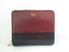 CELINE(セリーヌ) 2つ折り財布 - ボルドー×黒 レザー