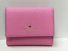 Kate spade(ケイトスペード) Wホック財布美品  ピンク レザー