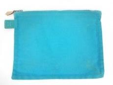 HERMES(エルメス) ポーチ ボラボラ ライトブルー Sサイズ キャンバス