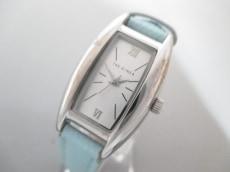 ザ ギンザ 腕時計 - レディース 革ベルト/型押し加工 シルバー