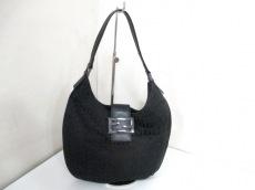 FENDI(フェンディ) ハンドバッグ美品  ズッキーノ柄 - 黒