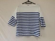 オーシバル 七分袖カットソー サイズF レディース美品  白×ブルー
