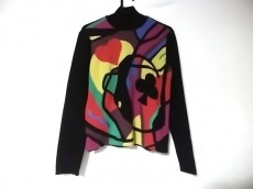 トクコ・プルミエヴォル 長袖セーター レディース美品  黒×マルチ
