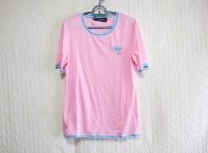 レオナール 半袖Tシャツ サイズL レディース ピンク×ライトブルー