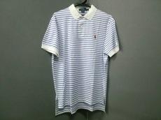 ポロラルフローレン 半袖ポロシャツ サイズL メンズ美品  白×ブルー