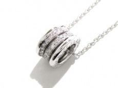ブルガリ ネックレス新品同様  B-zero1 K18WG×ダイヤモンド 旧型