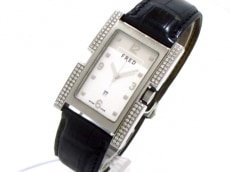 フレッド 腕時計 R09-101 レディース 革ベルト/ダイヤケース 白