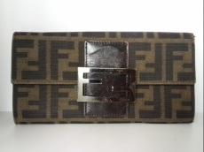 FENDI(フェンディ) 長財布 ズッカ柄 8M0021 ジャガード×レザー
