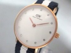 ダニエルウェリントン 腕時計美品  026R3 レディース ラインストーン